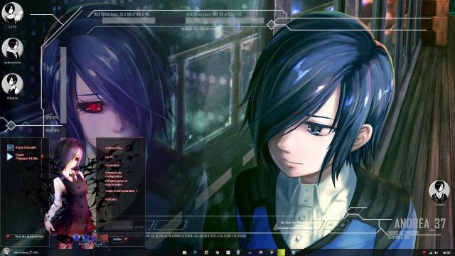 "Download Theme Windows 8 / 10 Tokyo Ghoul""Kirishima Touka"" by andrea_37 1"